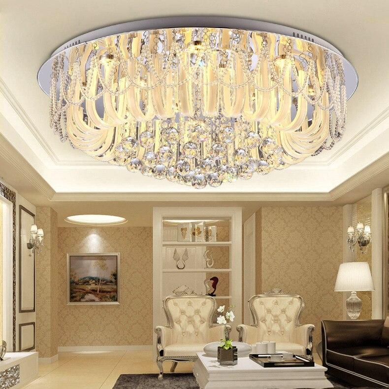 US $169.1 5% OFF|Kristall kombination runde kristall deckenleuchte LED  wohnzimmer lampe schlafzimmer esszimmer beleuchtung fabrik pendelleuchte ...