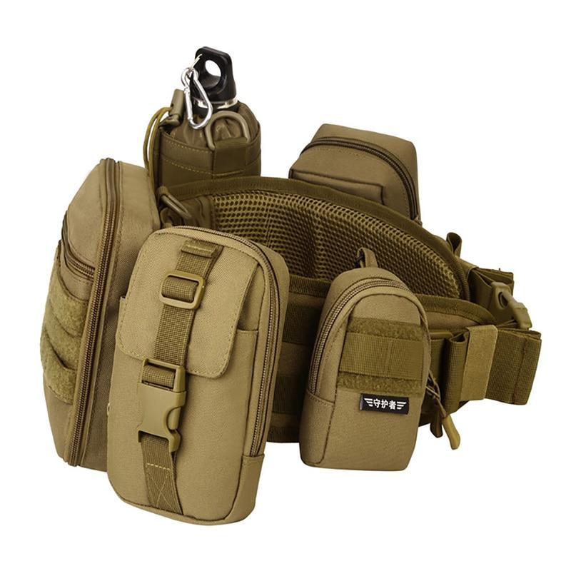 "2018 6"" EDC Molle Tactical Bag Vice Package Wear Waist Belt Purse Outdoor Sport Military Tool Bag Messenger Deporte Mochila"