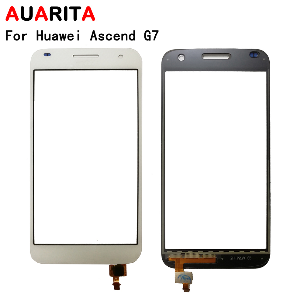 AAA quality touch panel screen For Huawei Ascend G7 G 7 front outer glass sensor Touch Screen Digitizer replacement parts|Mobile Phone Touch Panel| |  - title=