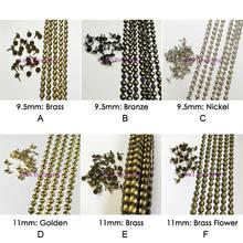 As tiras 5 do prego do estofamento de 9.5mm 11mm 16mm dourado bronze do níquel decoram as fitas das guarnições do prego, tachas do estofamento