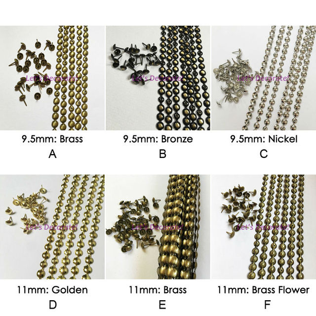 Sofa Upholstery Strip Free Shipping 5meters 9 5mm11mm Brass Nickel