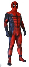3D Printing Deadpool Costume Adult With Muscle Shade Zentai Suit For Halloween and Christmas Party