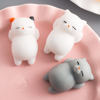 Squishy Soft Cute Cat Wipes Antistress Boot Ball D ...