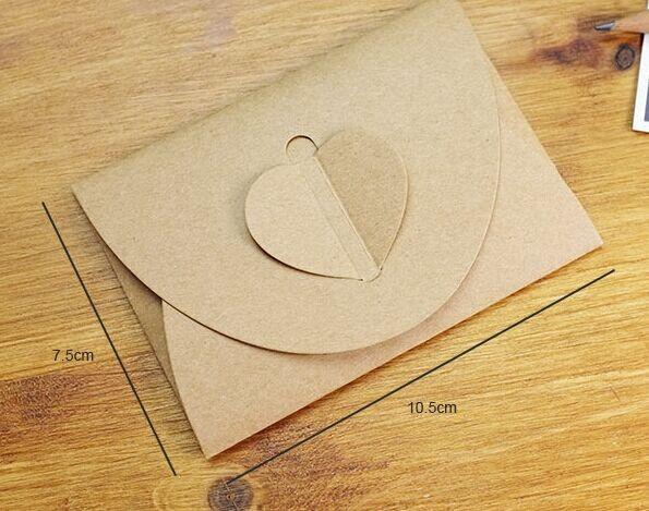 en forma de corazn de papel kraft sobres para tarjetas de felicitacin y las de