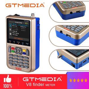 Image 1 - GTMEDIA V8 Finder mètre V 73 HD DVB S2/S2X Satellite Finder MPEG2 MPEG2 SAT ACM 3000mA batterie Satxtrem V8 Finder FTA Sat finder