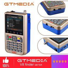 GTMEDIA V8 파인더 미터 V 73 HD DVB S2/S2X 위성 파인더 MPEG2 MPEG2 SAT ACM 3000mA 배터리 Satxtrem V8 파인더 FTA Sat Finder