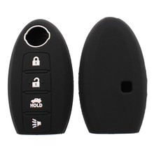 цена на 10pcs Remote 4 Buttons Silicone Car Key Cover For Nissan Teana X-Trail Qashqai Livina Sylphy Tiida