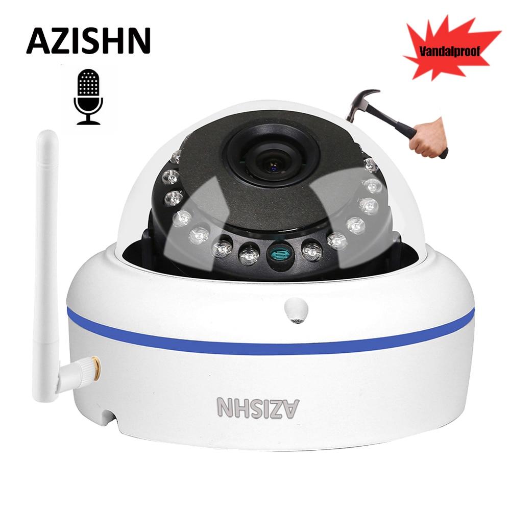 AZISHN Vandalproof Audio Wide Angle 1080P 960P 720P WiFi IP Camera Mic Surveillance outdoor CCTV Camera