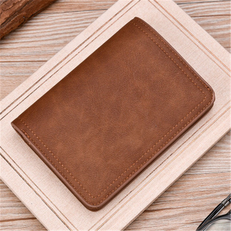 Ny Zipper plånbok retro frostat läder mäns plånbok Hög kvalitet - Plånböcker - Foto 3