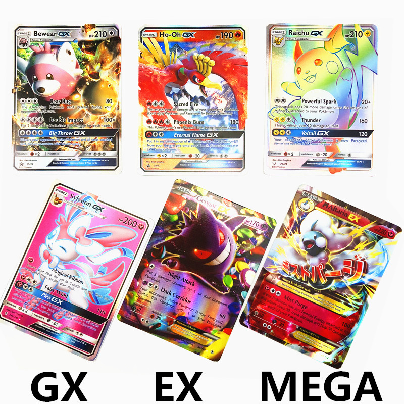 Kids Home Card  Pokemones  Game Battle Toys New Trading Card Arrival 10 20 30 60 100 200 324 GX EX MEGA Card Collection Game(China)