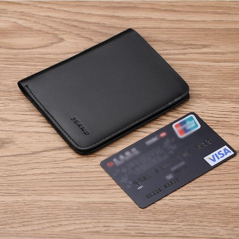 WilliamPOLO New Brand Men Wallets Short Slim Bifold Clutch Bag Genuine Leather Purse Mini Credit Card Holder Male Pocket Purse Wallets     - title=