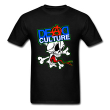 Cheap Short Sleeve Tops T Shirt Dead Culture Screaming Skull Graphic Crewneck Pure Cotton Men Casual & Tees Man