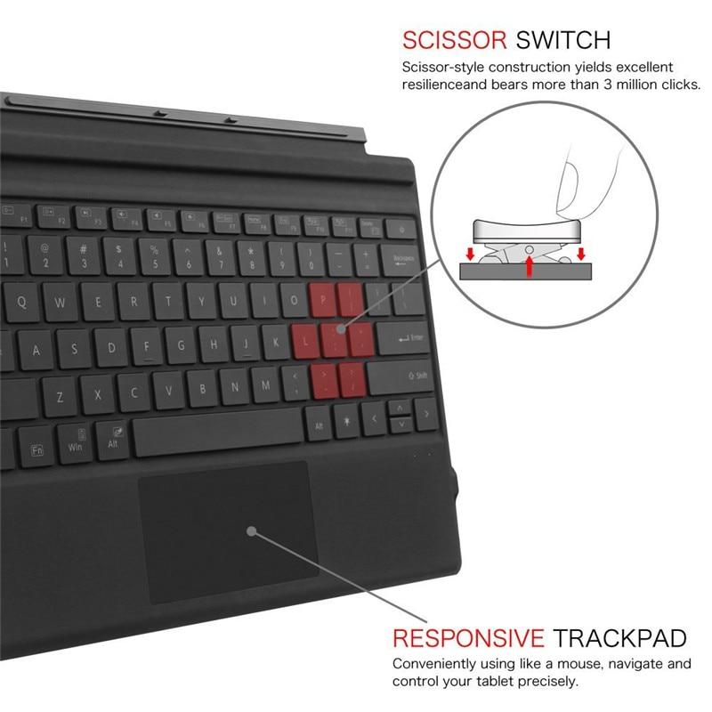 Megoo Surface Pro Keyboard Type Cover Ultradunne Backlit Draadloze - Computerrandapparatuur - Foto 6