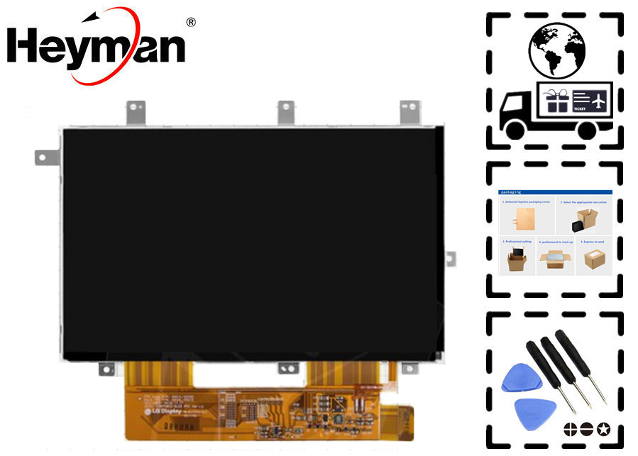 Heyman 7''size LCD display screen LD070WS2-SL02 for Ainol Novo 7 Aurora China-Tablet PC Replacement parts 6 lcd display screen for onyx boox albatros lcd display screen e book ebook reader replacement