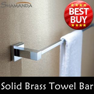 Free Shipping (60cm)Single Towel Bar Towel Holder Solid Brass Made Chrome Finished Bathroom Products Bathroom Accessories-94008 free shipping bathroom products solid brass chrome single towel bar chrome towel holder towel rack bathroom accessories cs008d 2