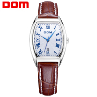 DOM Leather Strap Watch Luxury Brand Women Waterproof Simple Quartz Watches Female Fashion Ladies Square Watch Hot G 1012L 7M