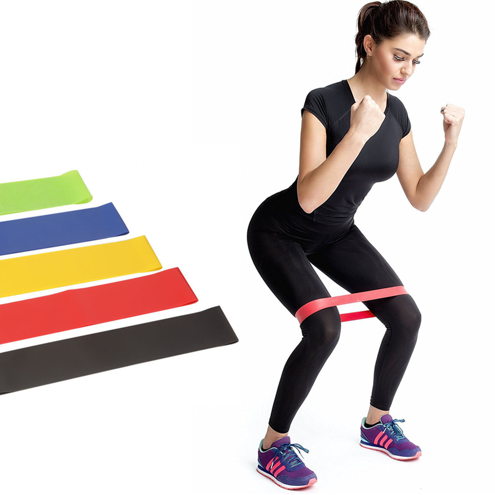 5 Colors Resistance Bands Rubber Band Fitness Gum Rubber Yoga Gym Strength Training Indoor Equipment Elastic Bands For Fitness