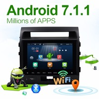 Bosion Car Multimedia Radio Android 7.1.1 Quad Core GPS Sat Navi For TOYOTA LAND CRUISER LC200 WIFI SWC AUX IN/OUT RDS ATV