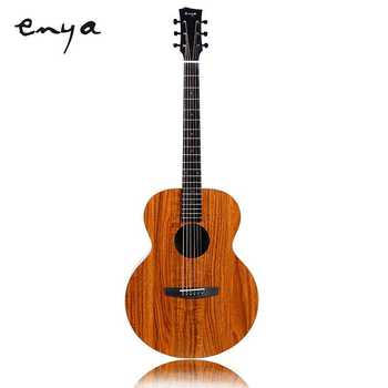 Enya EA-X1/EQ 41 inch Acoustic Guitar KOA-Patterned HPL Wood Full Board With Bag Tuner Capo Express Delivery Free Shipping free shipping professional koa wood guitar grand auditorium body guitar handmade armrest koa 6 string acoustic electric guitar