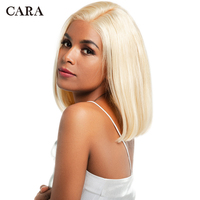 613 Full 360 Lace Front Human Hair Wigs Blonde Brazilian Remy Glueless Pre Plucked 360 Wigs With Baby Hair Straight Bob Wig CARA