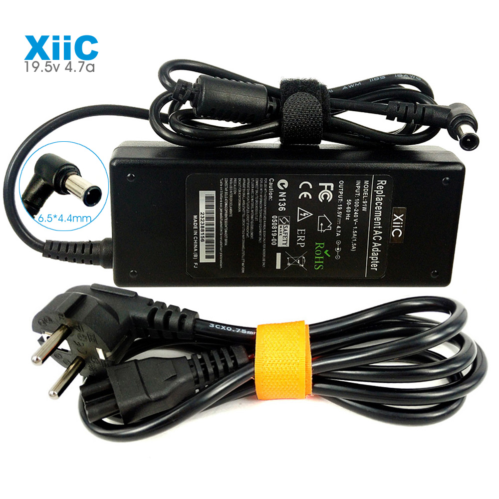 XiiC 19,5 V 4.7A AC Power Ladegerät Laptop Adapter für Sony VAIO PCG VGP VGN VGA VPC LCD TV Serie 90W 6,5*4,4mm Mit Power Kabel image