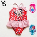 2-7T Mine Mouse Baby Girls Swimwear One Piece Bathing Suit Kids girl's Butterfly Floral Swimming Suit children Swimsuit 3 4 5 6