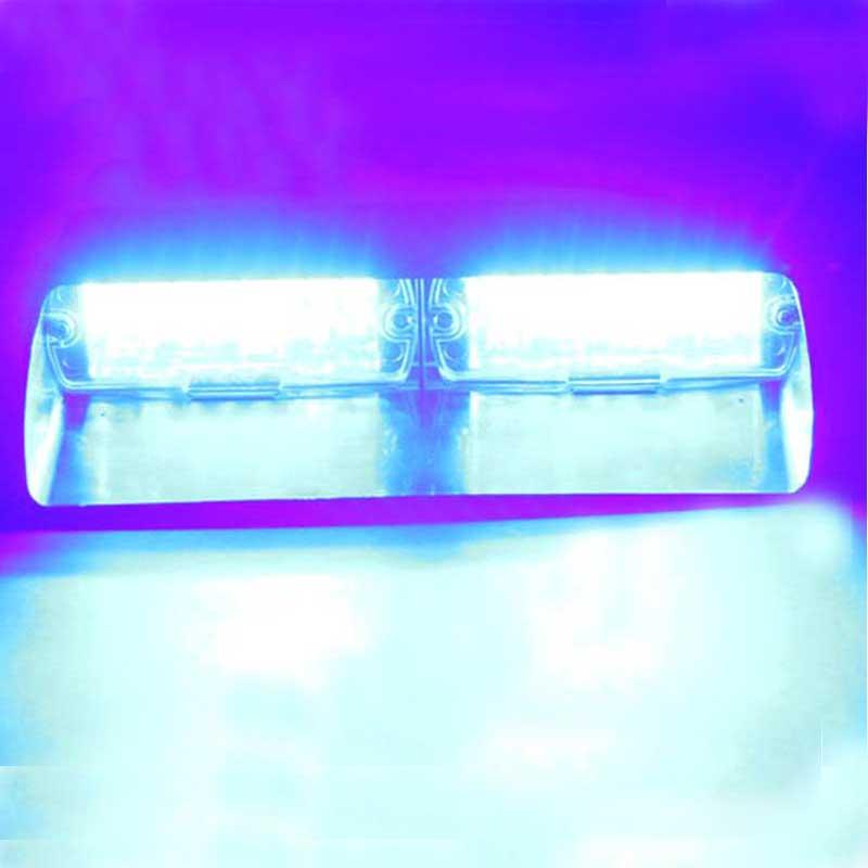 Car WHITE 96W S2  light 16pcs Led car red blue led in dash  police light/police  warning light car strobe light 96w s2 us f ederal light 16pcs led car red blue led in dash police light police warning light car strobe light