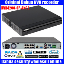Original Dahua English version NVR4208-8P-4KS2 H.265 NVR with 2SATA 8POE ports , 4K NVR 8ch DH-NVR4208-8P-4KS2