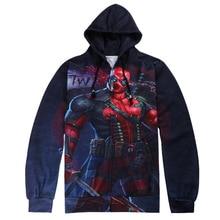 2018 New Arrival Deadpool Hoodie Zipper American Comic Fashion Sweatshirt Outerwear Harajuku 3D Hoodies Anime Size S-XXL