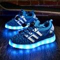 2016 meninas acende crianças shoes glowing led luminoso crianças casual shoes com asas nova simulação único responsável para meninos