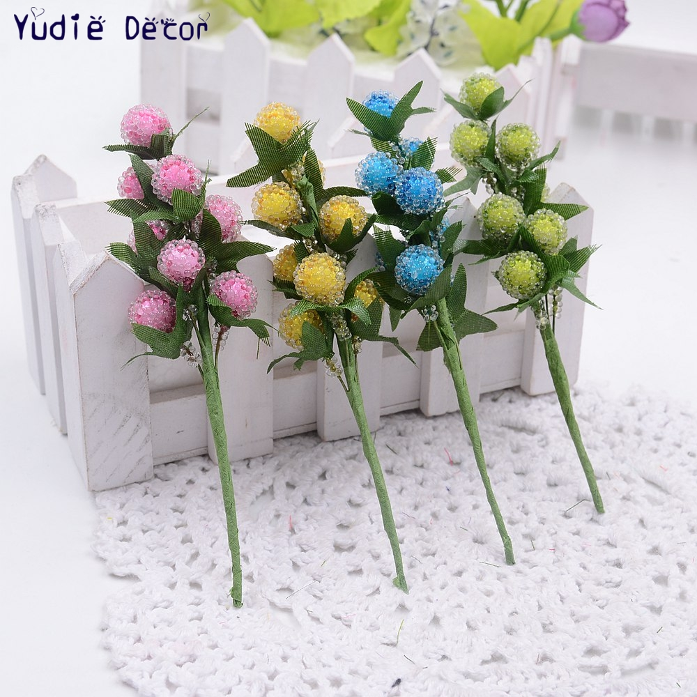 8pcslot Valentine Gift Artificial Plastic Strawberry Flowers Bouquet Artificial Non Toxic Flowers For Wedding Decoration In Artificial Dried