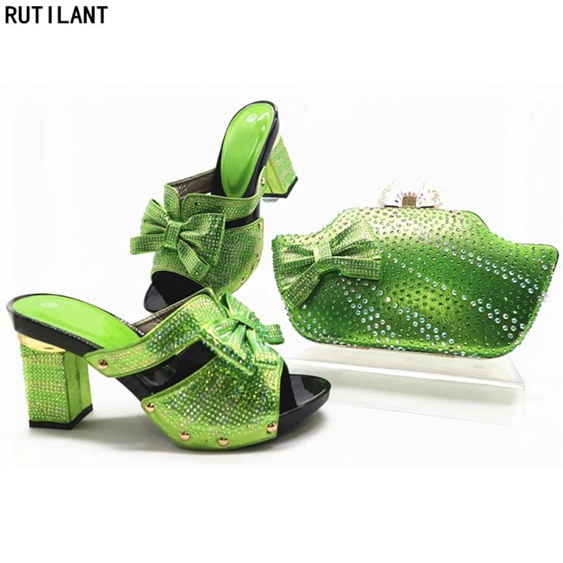 Or Avec gold Qualité Nigérian red Strass Décoré green Bleu Haute fuchsia Sac Africaine Ensemble De Et Assorti Chaussures Mariage 8wdTqS