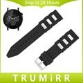 22mm caucho de silicona watch band + herramienta para moto 360 2 46mm samsung gear 2 r380 neo r381 vivo r382 correa correa de muñeca bracelt negro