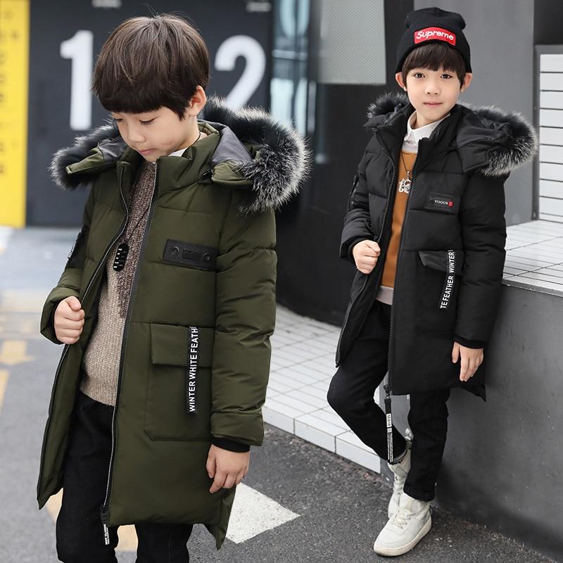 цена Brand Design 2017 Kids Winter Coats New Year Clothes Long Style Keep Warm Good Quality Cotton inside Fashion Boys Outer wear онлайн в 2017 году