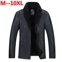 10XL 8XL Winter men genuine leather coats pigskin pilot jacket faux lamb wool motorcycle jackets manteau homme veste cuir homme