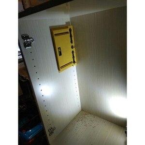 Image 5 - ไม้เครื่องมือ DIY จับประตูจับลูกบิดดึงติดตั้ง Jig และชั้นวาง Pin Jig งานไม้ Hole เปิด Puncher