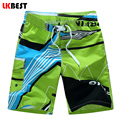 LKBEST New arrival men's bermudas boardshort print mens board short quick dry male beach swimwear trunks plus size M-5XL N1521