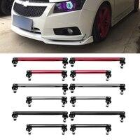 2x Adjustable Universal Front Rear Bumper Lip Splitter Strut Brace Rod Support Bar Exterior Auto Bumpers