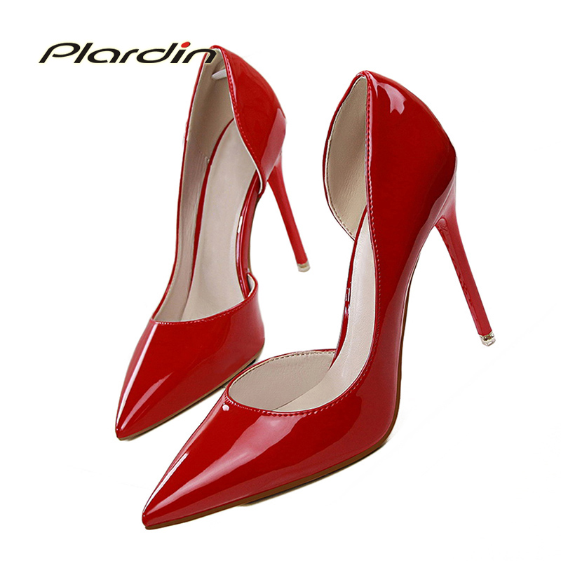 Plardin New Shoes Woman Sweet Concise Women Party Wedding Shallow  Ladies Shoes Thin High Heel Pumps Women Shoes High Heel