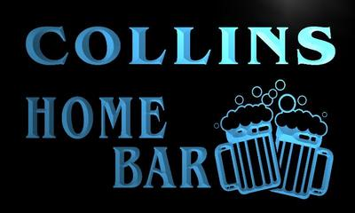 x1050-tm Collins Home Bar Custom Personalized Name Neon Sign Wholesale Dropshipping On/Off Switch 7 Colors DHL