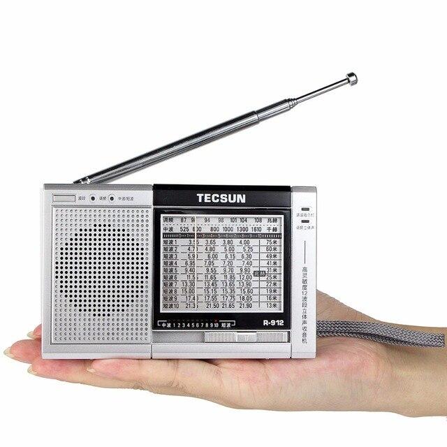Tecsun Радио R912 FM/MW/SW Мир Радиодиапазоне Приемник с Внешней Антенной Радио FM Y4376D