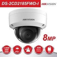 HIK DS-2CD2185FWD-I 8MP Сеть мини купольная безопасности камера cctv с Интернетом SD карты 30 м ИК H.265 + IP Камера
