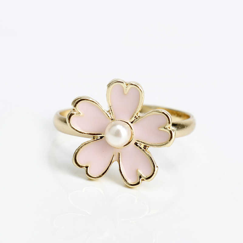 dongsheng Beautiful Women Accessories Sweet Adjustable Flower Ring Women Girl Charm Jewelry Cute Pattern Finger Ring -25
