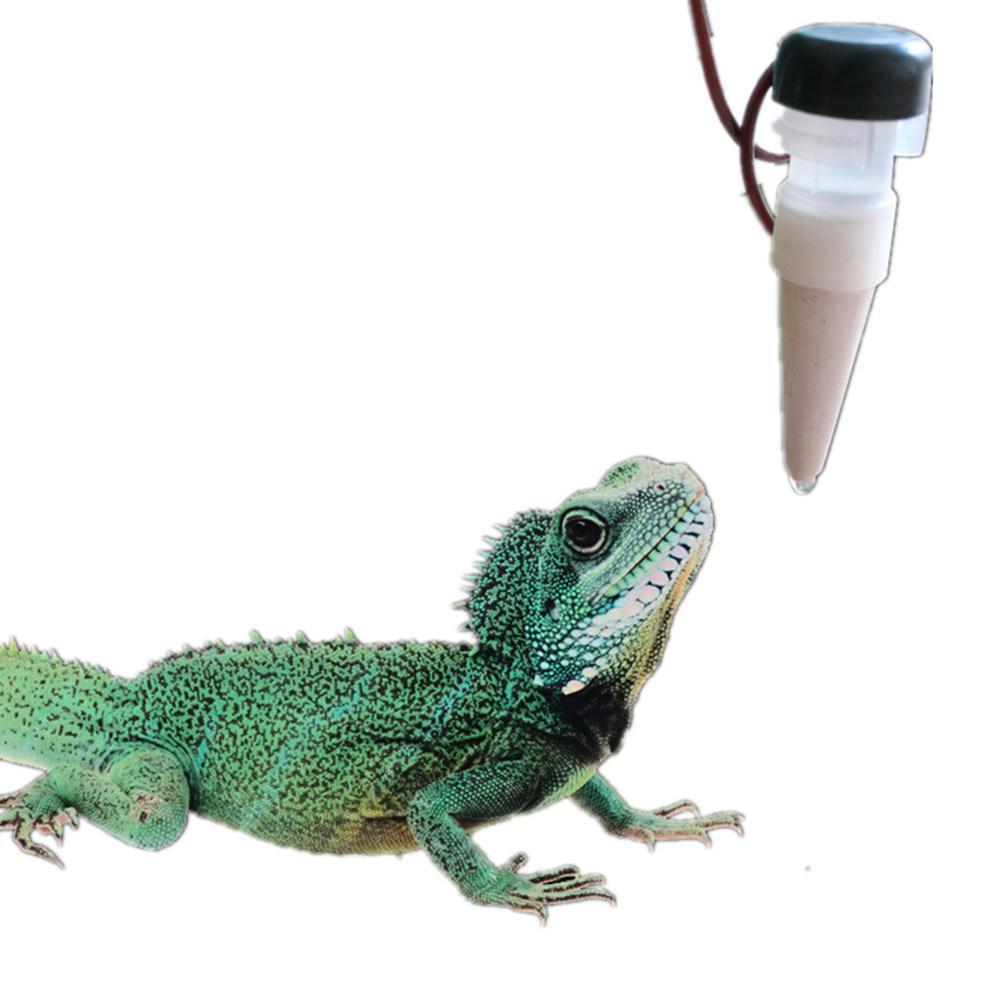 LanLan 1300ML Reptile Water Filter Drip System Drinking