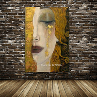 High quality Canvas Painting Oil painting Canvas Reproductions Golden Tears by Gustav Klimt Painting for Bedroom hand painted
