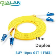 15m LC UPC Fiber Optic Patch Cord  Duplex 2.0mm PVC Optical Jumper Single Mode FTTH Fiber Patch Cable LC Connector Patchcord