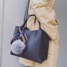 2019 Moda bayanlar Kompozit el çantaları En pu deri omuz çantası Büyük Kapasiteli Kadın Crossbody çanta Casual Katı Tote Kadın