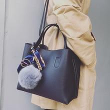 2019 mode dames Composite sacs à main Top sac à bandoulière en cuir synthétique polyuréthane grande capacité femmes Crossbody sacs décontracté solide fourre tout femme