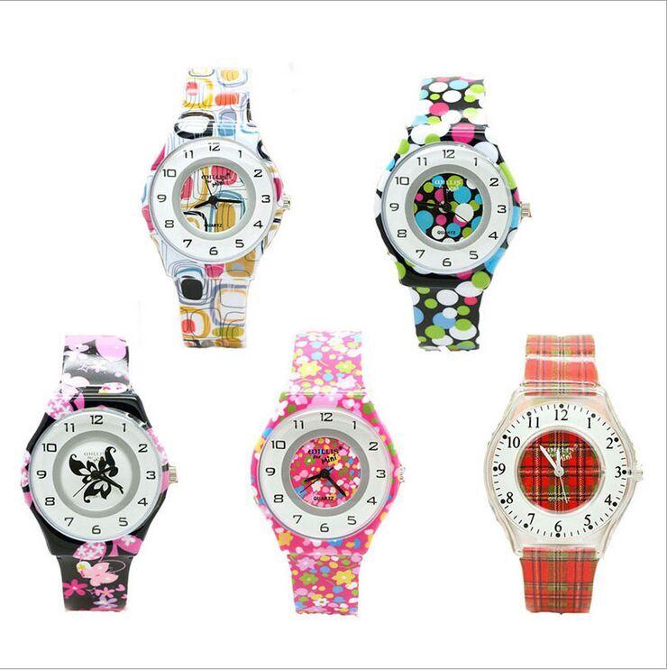 2017 Brand Willis New Watch 5 Colors Flowers Design Analog Women Waterproof Watch Boys Girls Children Watch