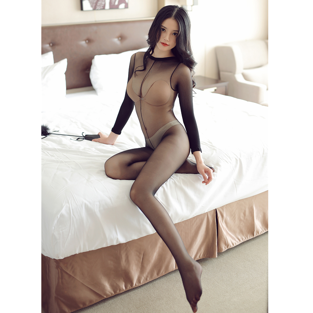 Hot DealsStocking Tights Pantyhose Sheer Open-Crotch Sexy Girl Shiny Women Full-Body High-Elastic